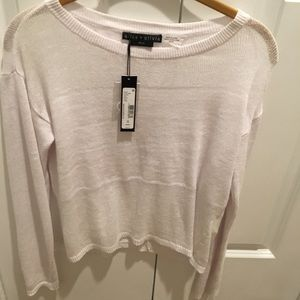 Alice and Olivia white cropped sweater NWT